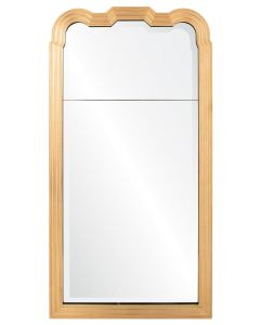 Michael S. Smith Queen Anne Trumeau Wall Mirror in Dore Gold Leaf and Aged Ebony