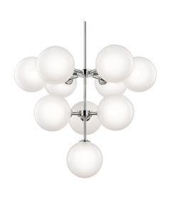 Mitzi by Hudson Valley Lighting Ashleigh 10 Light Glass Bulb Chandelier  Available in Two Finishes - ON BACKORDER