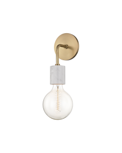 Mitzi by Hudson Valley Lighting Asime Hanging Bulb Wall Sconce - Available in Two Finishes