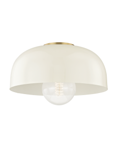Mitzi by Hudson Valley Lighting Avery Semi Flush Ceiling Mount with Colored Shade Available in Four Finishes