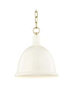Mitzi by Hudson Valley Lighting Blair Hanging Metal Pendant Chain Link  Available in Four Finishes and Two Sizes