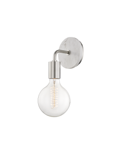 Mitzi by Hudson Valley Lighting Chloe Hanging Bulb Metal Wall Sconce - Available in Two Finishes