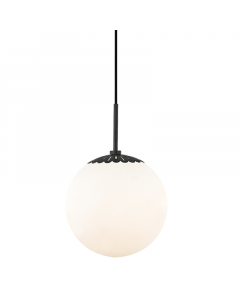 Mitzi by Hudson Valley Lighting Large Paige Glass Dome Pendant with Scallop Detail  Available in Three Finishes