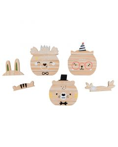 Mix and Match Wood Animal Face Stacker Toy - ON BACKORDER UNTIL SEPTEMBER 2021