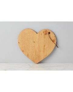 Heart Charcuterie Cutting Board in Natural- PREORDER: SHIPMENT IN MARCH