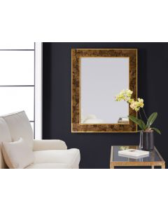 Modern History Brice Rectangle Mirror in Toffee Penshell