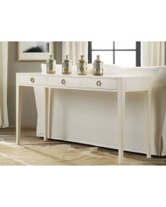 Modern History White Painted Three Drawer Console