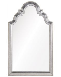 Michael S. Smith Modern Victorian Mirror in Antiqued Silver Leaf