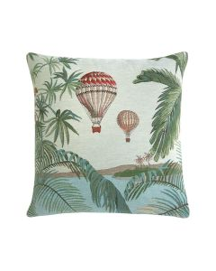 Woven Tapestry Double Hot Air Balloon Pillow - Blue - OUT OF STOCK