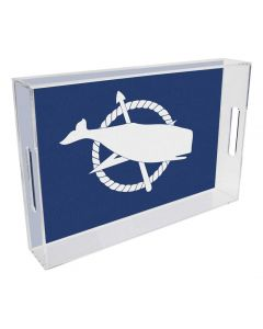 Nantucket Old School Flag Lucite Tray, Available in Six Sizes