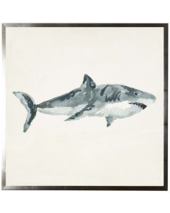 Nautical Shark Watercolor Wall Art With Size and Framing Options