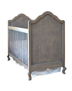French Provincial Cottage Style Scalloped Custom Crib - Available in a Variety of Finishes