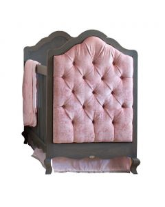 Custom French Provincial Scalloped Crib With Tufted Panels - Available in a Variety of Finishes