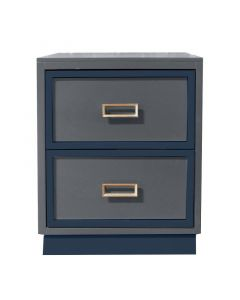 Modern Custom 2 Tone 2 Drawer Nightstand - Available in a Variety of Finishes