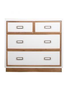 Modern 4 Drawer Dresser With Geometrical Mouldings - Available in a Variety of Finishes