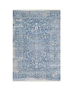 Nicola Blue and Beige Floral Area Rug - Available in a Variety of Sizes