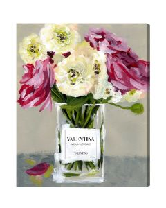 """""""Acqua Florale"""" Canvas Print Wall Art - Available in 6 Sizes"""