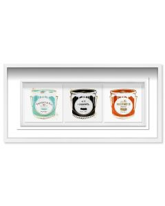 Fashion Paint Trio Canvas Wall Art in Shadow Box Frame - Available in 2 Sizes