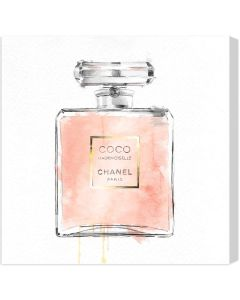 """""""Mademoiselle"""" Chanel Perfume Bottle Canvas Wall Art - Available in 5 Sizes"""