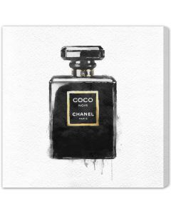 """""""Noir"""" Coco Chanel Perfume Bottle Canvas Wall Art - Available in 5 Sizes"""
