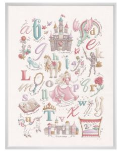 Once Upon A Time Fairy Tale Alphabet Children's Wall Art