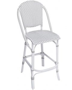 Outdoor Aluminum Framed Woven Bistro Style Counter Stool