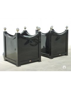 Outdoor Curved Garden Planter in Aluminum with Finials - Available in a Variety of Sizes and Can be Customized