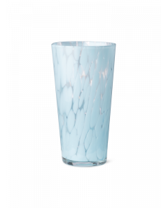 Pale Blue Blown Glass Spotted Vase