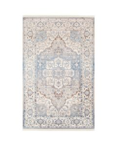 Persian Design Rug in Beige and Sky Blue, Available in a Variety of Sizes