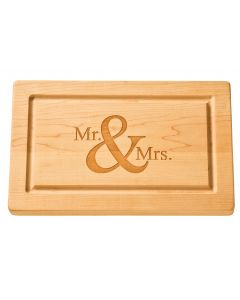 Maple Leaf Personalized Artisan 13''x 8'' Rectangle Cutting Board with No Handles