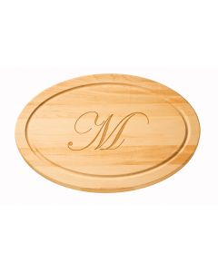 Maple Leaf Personalized Artisan 24'' x 14'' Oval Cutting Board with No Handles