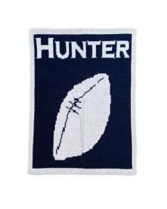 Personalized Football Design Blanket - Available in Variety of Colors