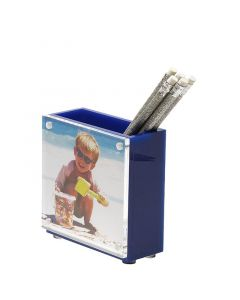 Picture Frame Acrylic Pen Holder - Available in Three Colors