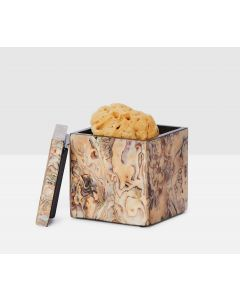 Pigeon & Poodle Adana Bathroom Canister in Marbelized Shell