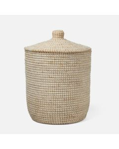 Pigeon & Poodle Roslyn Tall Whitewashed Seagrass Hamper