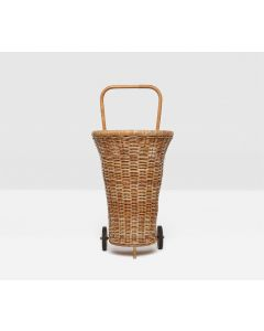 Pigeon & Poodle Chambery Cart-Style Basket in Natural Rattan