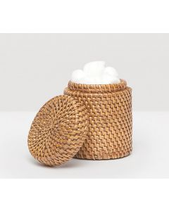 Pigeon & Poodle Dalton Woven Rattan Bathroom Canister in Brown - ON BACKORDER UNTIL AUGUST 2021