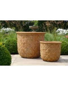 Pineapple Garden Planter in a Terracotta Style Finish - Available in Two Different Sizes-ON BACKORDER UNTIL OCTOBER 2021