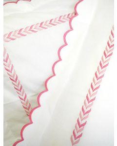 Pink Scalloped Leaf Bedding Collection