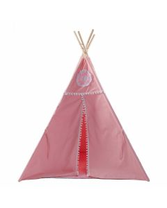 Pink Play Teepee With Floor Mat for Kids
