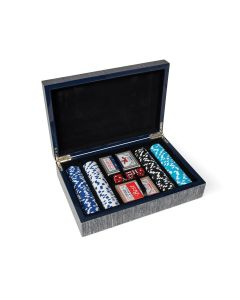 Poker Game Set in Cement Grey Case