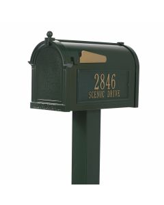 Green Standing Mailbox Kit - Personalized
