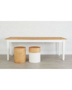 Antique Farmhouse Dining Table in Natural and White - Available in 4 Sizes - BACKORDERED UNTIL MARCH 2021