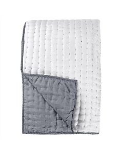 Luxury Grey and White 100% Silk Soft Lightweight Quilt Bedding – Available in Two Sizes