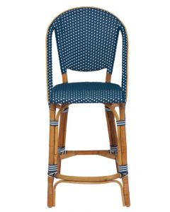 Rattan and Synthetic Fiber Woven Bistro Style Counter Stool - Available in Many Colors