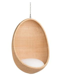 Outdoor Rattan Hanging Egg Chair - Available in Two Colors