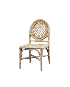 Rattan Trellis-Back Chair, Available in a Variety of Colors - PREORDER JANUARY 2022