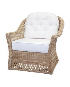Rattan Trellis Lounge Chair Available in a Variety of Colors - PREORDER JANUARY 2022