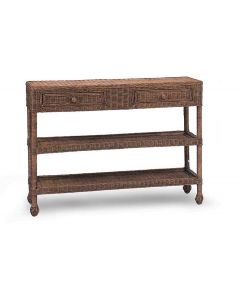 Harvested Rattan Wicker Two Drawer Buffet Table - Available in a Variety of Colors