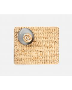 Set of 4 Rectangular Woven Placemats in Natural